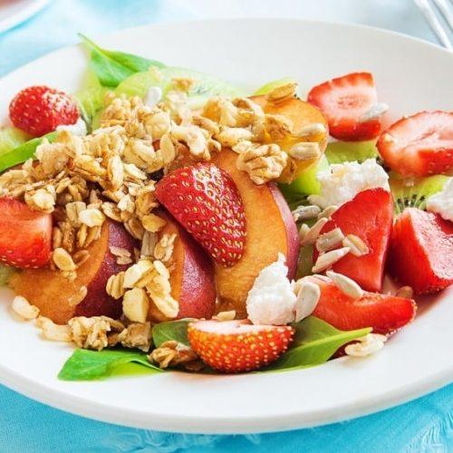 Strawberry Strawberry Kiwi and Spinach Salad